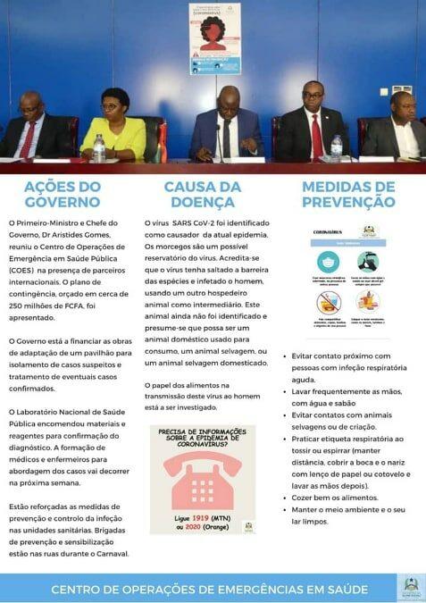 A Guiné-Bissau segue a situação do Coronavírus