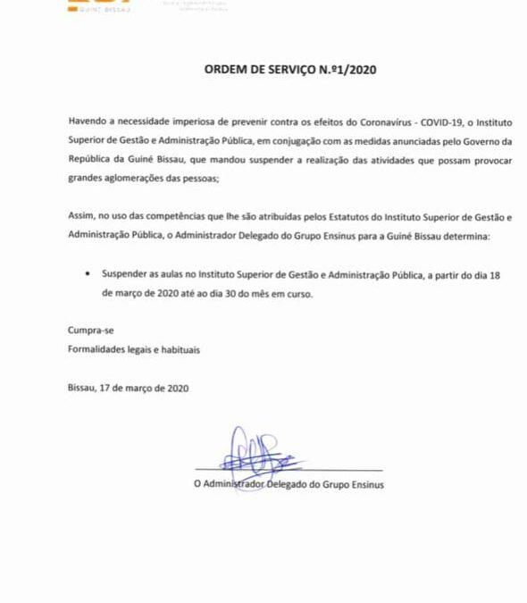 COMUNICADO ISG GW – 18.03.2020