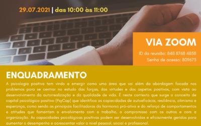 Workshop | Capital Psicológico Positivo | 29 de julho